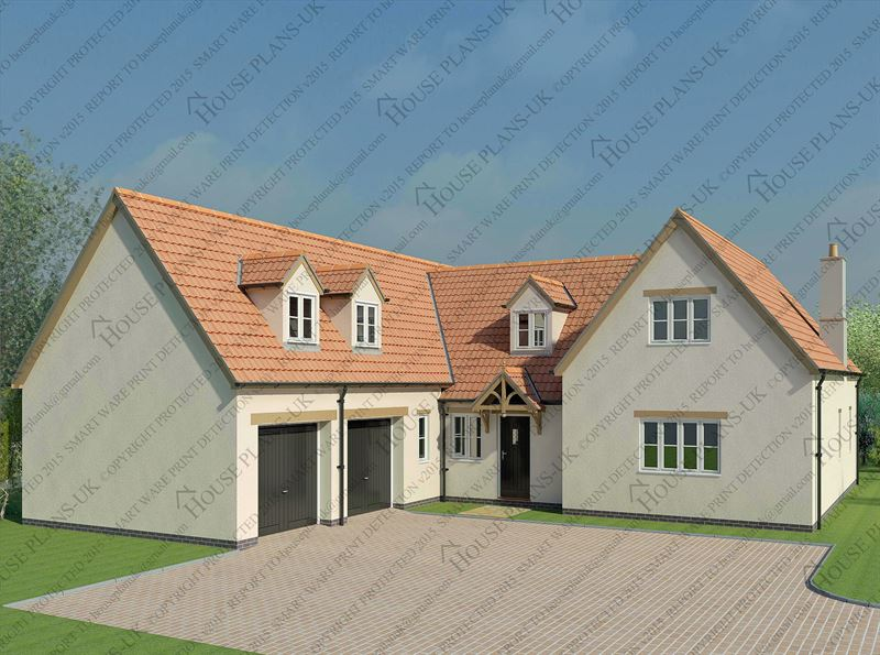 design 140 5 bed dormer - Home Designers Uk