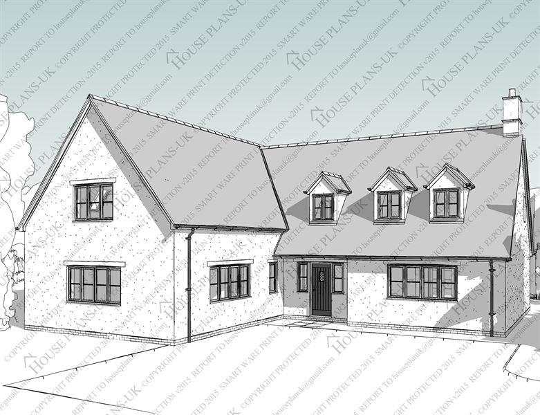 Dormer house plans uk house design plans Dormer house plans
