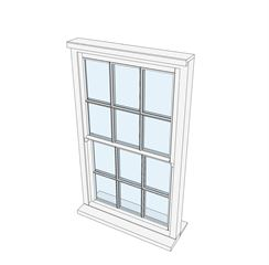 Window 2 Sash All Bar