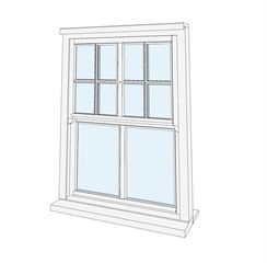 window 4 Sash Top All Bar