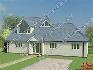 Design no 135 4 Bed Dormer Bungalow