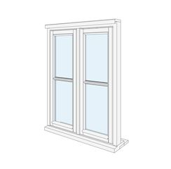 Window 5 Casement with Horizontal Bar